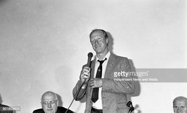 Ireland Manager Jack Charlton at the FAI Press Conference