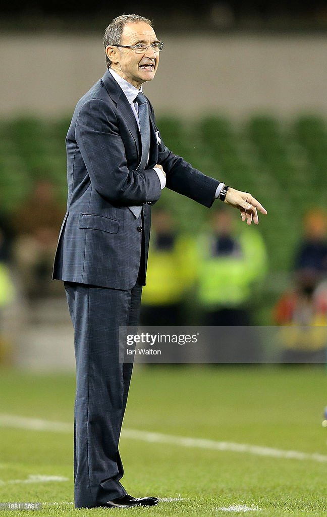 Ireland manager Martin O'Neill during the International Friendly match between Republic of Ireland and Latvia at Aviva Stadium on November 15, 2013 in Dublin, Ireland.