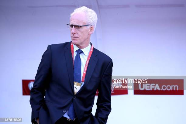 Ireland manager Mick McCarthy during the 2020 UEFA European Championships group D qualifying match between Gibraltar and Republic of Ireland at...