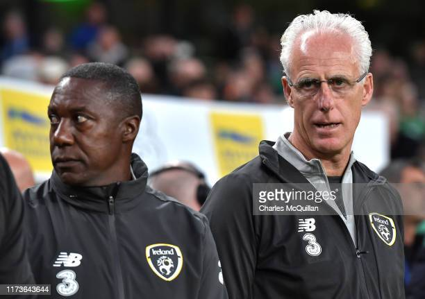 Ireland Manager Mick McCarthy during the International Friendly match between Republic of Ireland and Bulgaria at Aviva Stadium on September 10 2019...