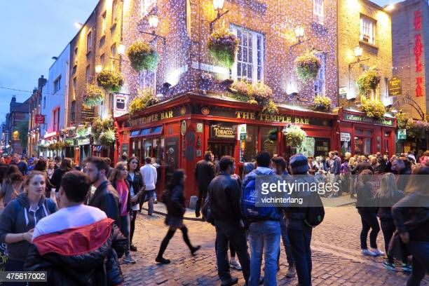 ireland marriage equality national referendum, may 23, 2015 - temple bar dublin stock photos and pictures