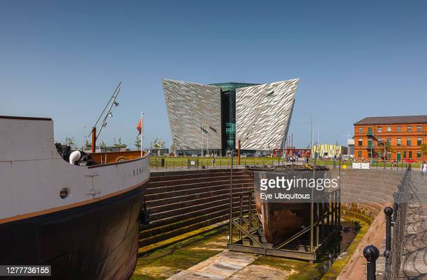 Ireland, North, Belfast, Titanic quarter visitor attraction seen from the SS Nomadic tender.