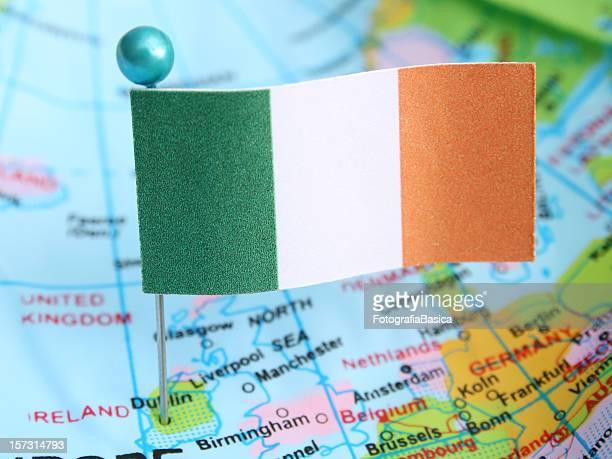 ireland - irish flag stock pictures, royalty-free photos & images