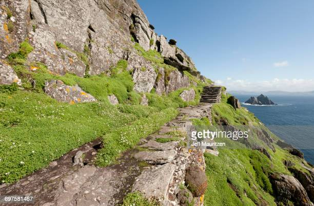 'Scenic view of Skellig islands in County Kerry, Munster province, Ireland, Europe.'