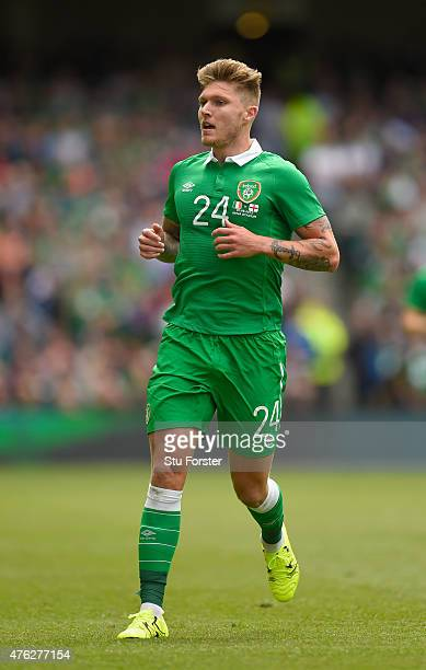 Ireland player Jeff Hendrick in action during the International friendly match between Republic of Ireland and England at Aviva Stadium on June 7...