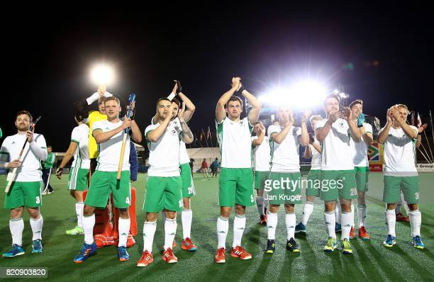 Ireland players applaude their fans after the fimnal whistle during day 8 of the FIH Hockey World League Men's Semi Finals 5th/ 6th place match...