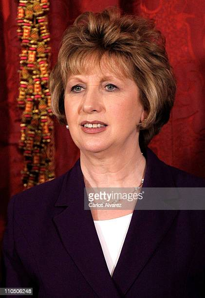 Ireland President Mary McAleese poses for the photographers at the Royal Palace on March 21, 2011 in Madrid, Spain.
