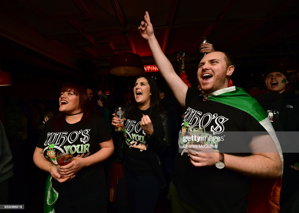 Irish Rugby Fans Watch The Six Nations Rugby Tournament 2018
