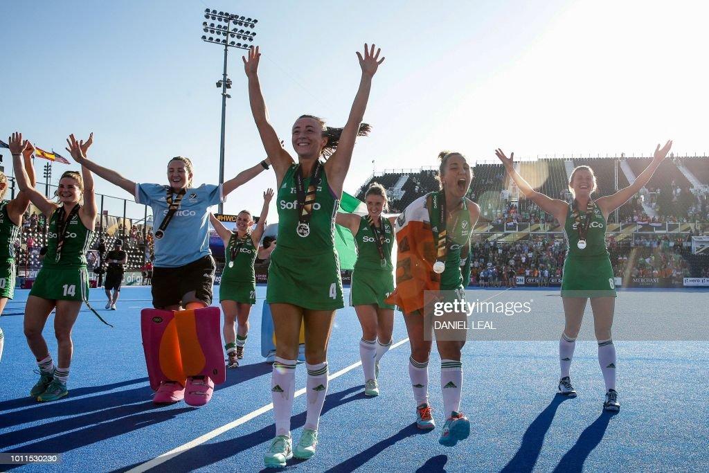 FHOCKEY-WOMEN-WC-2018-NED-IRL : News Photo
