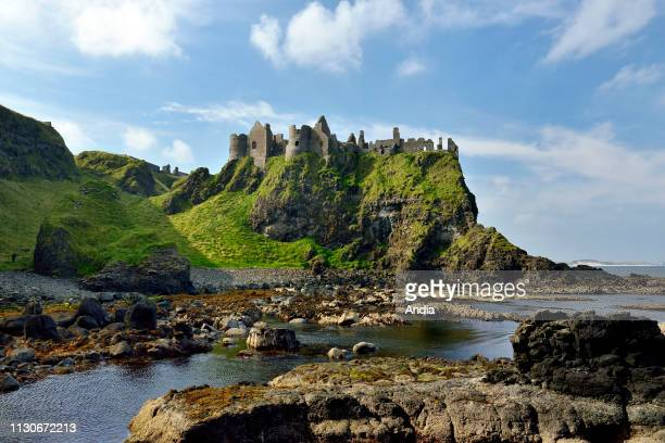Ireland, Ulster, County Antrim, Bushmills: Dunluce Castle, Pyke Castle, Iron Islands, in the TV series Game of Thrones.