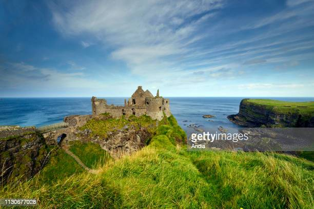 Ireland Ulster County Antrim Bushmills Dunluce Castle Pyke Castle Iron Islands in the TV series Game of Thrones