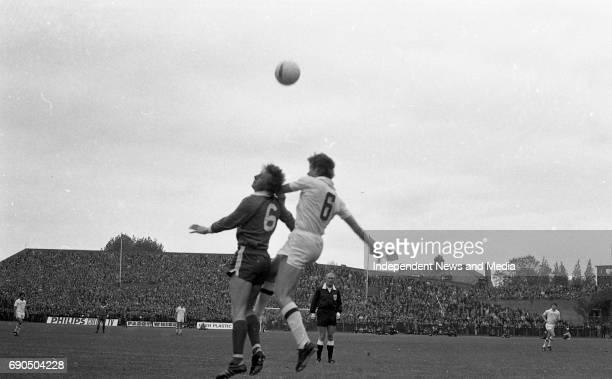 Ireland v Russia football match at Lansdowne Road Stadium in Dublin circa October 1972 .