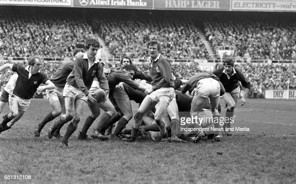 Ireland V Scotland in Lansdowne Road Dublin
