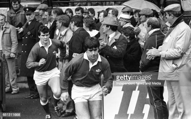 Ireland V Wales at Lansdowne Road, Dublin, .