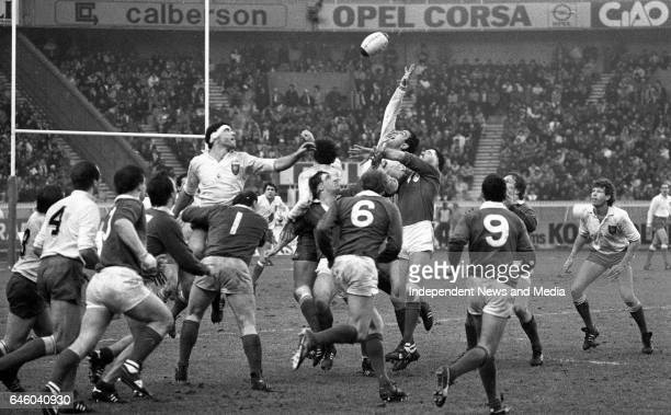 Ireland V Wales in the Five Nations Championship at Lansdowne Road, Dublin, .