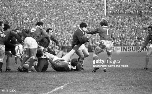 Ireland Vs Wales in the then 5 Nations at Lansdowne Road, Dublin, .