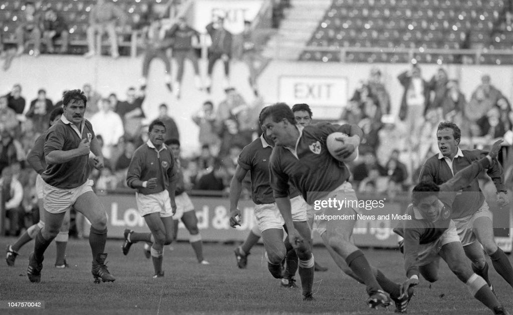 Ireland Vs Western Samoa 1988 News Photo
