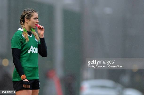 Ireland womens Megan Williams during the Rugby Womens Friendly match between Wales Women and Ireland Women on January 21 2018 in Ystrad Mynach Wales
