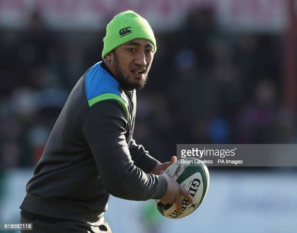 Ireland's Bundee Aki during a training session at Buccaneers RFC Athlone