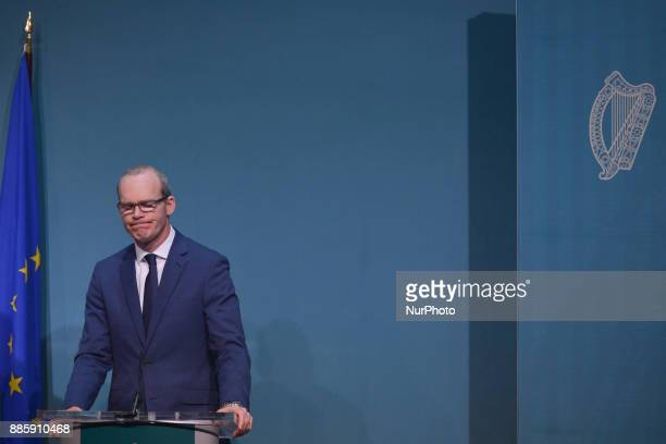 Ireland's deputy PM and Minister for Foreign Affairs and Trade Simon Coveney makes a statement on Phase I of the Brexit negotiations On Monday 4...