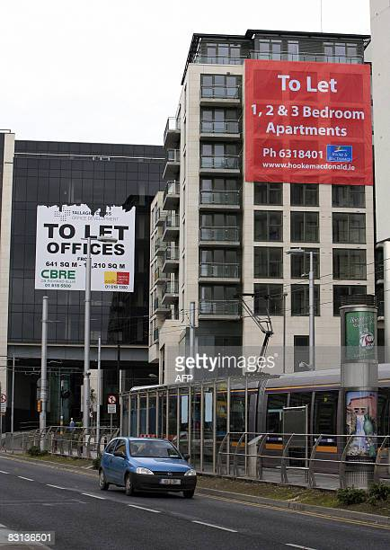 Ireland's Polish builders pack their bags as credit crunch bites To Let signs are displayed on buildings in TallaghtIreland on October 4 2008 To go...