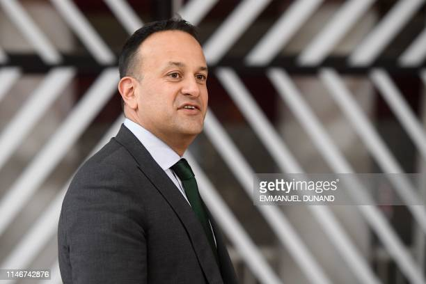 Ireland's Prime Minister Leo Varadkar arrives for a European Union summit at EU Headquarters in Brussels on May 28 2019