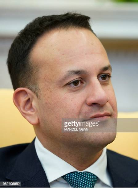 Ireland's Prime Minister Leo Varadkar is seen during a bilateral meeting with US President Donald Trump in the Oval Office of the White House on...
