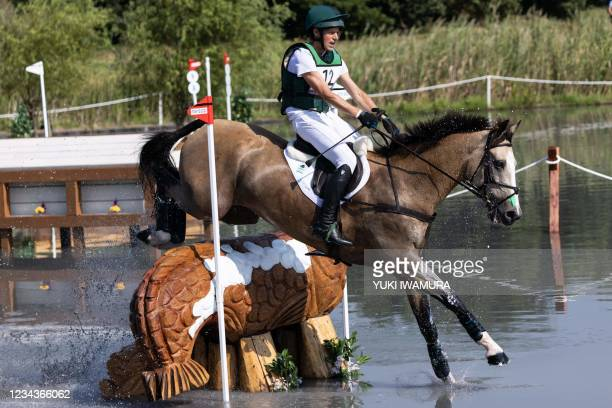 Ireland's Sam Watson riding Flamenco competes in the equestrian's eventing team and individual cross country during the Tokyo 2020 Olympic Games at...