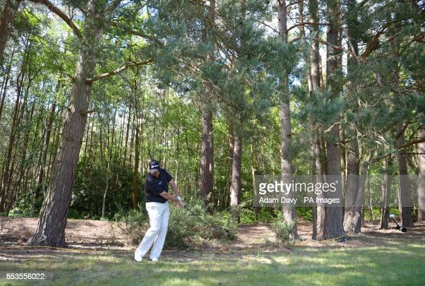 Ireland's Shane Lowry in the heavy rough during day four of the BMW PGA Championships at the Wentworth Club Surrey