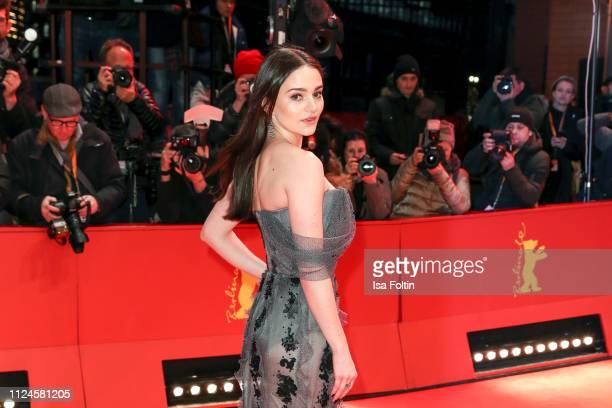 Ireland's shooting star Aisling Franciosi poses at the Vice premiere during the 69th Berlinale International Film Festival Berlin at Berlinale Palace...