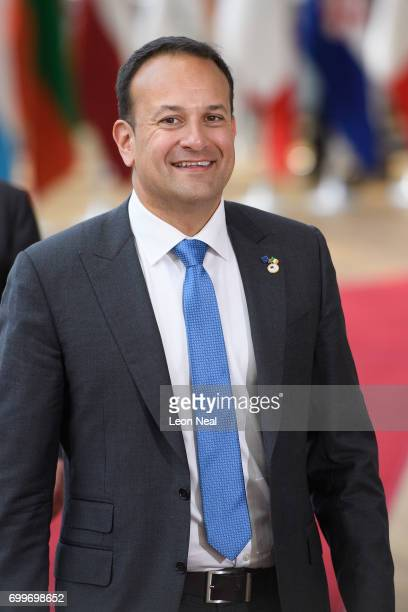 Ireland's Taoiseach Leo Varadkar arrives at the EU Council headquarters ahead of a European Council meeting on June 22 2017 in Brussels Belgium