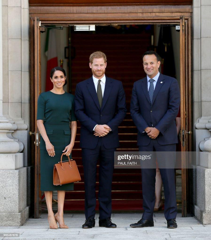 Ireland's Taoiseach Leo Varadkar Poses With Britain's