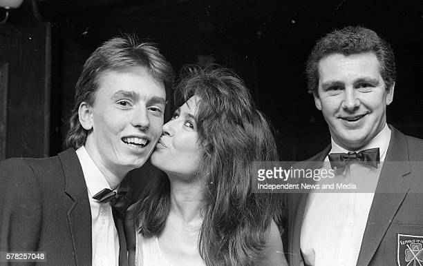 Irelands two competitors in the World Amateur Snooker Championships in India Ken Doherty and Jimmy Long at a reception in Tin Pan Alley in D'Olier...
