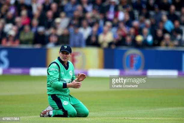 Ireland's William Porterfield during the Royal London ODI between England and Ireland at Lord's Cricket Ground on May 7 2017 in London England