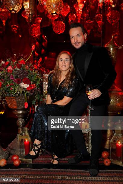 Irem Kinay and Serhat Tuncay attend Bosphorus private book launch at Maison Assouline on December 14 2017 in London England