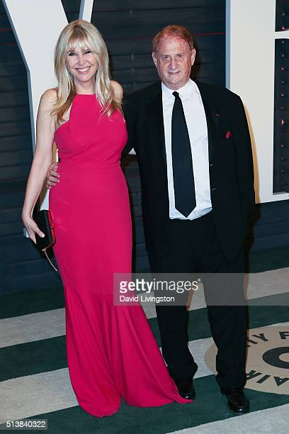 Irena Medavoy and producer Mike Medavoy arrive at the 2016 Vanity Fair Oscar Party Hosted by Graydon Carter at the Wallis Annenberg Center for the...