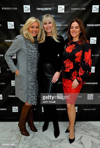 Irena Medavoy Carla Du Manoir and guest attend Town Country's Stellene Volandes and Irena Medavoy Celebrate The Golden Globes with a preview of...