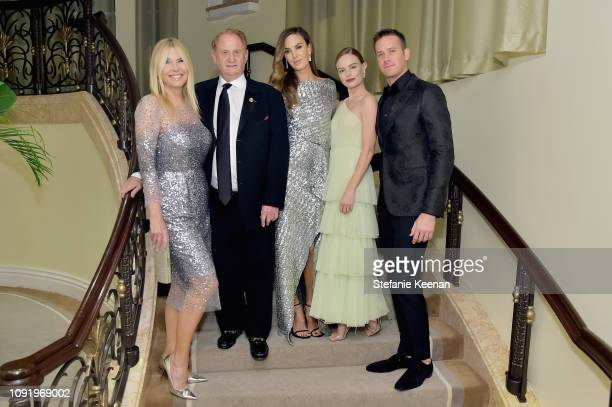 Irena Medavoy, Mike Medavoy, Elizabeth Chambers, Kate Bosworth and Armie Hammer attend Learning Lab Ventures 2019 Gala Presented by Farfetch at...