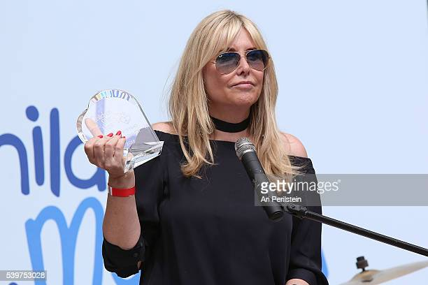 Irena Medavoy receives award at Children Mending Hearts and Vintage Grocers Presents the 8th Annual Empathy Rocks on June 12 2016 in Beverly Hills...