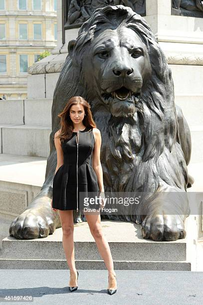 Irena Shayk attends a photocall for 'Hercules' at Trafalgar Square on July 2 2014 in London England