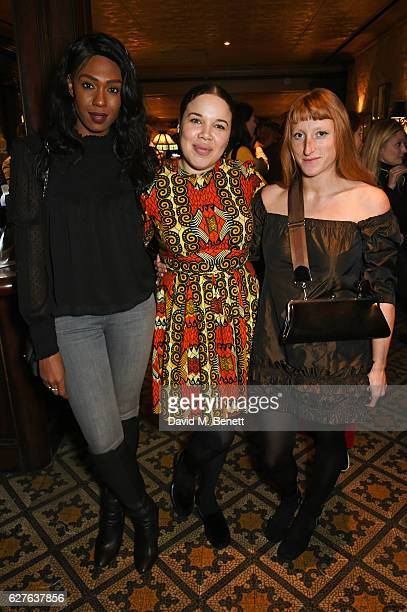 Irene Agbontaen Zeze Ifore and Molly Goddard attend The Fashion Awards in partnership with Swarovski nominees' lunch hosted by the British Fashion...