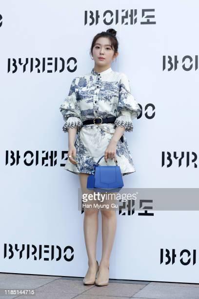 Irene aka Bae Joo-Hyun of girl group Red Velvet arrives at the photocall for 'BYREDO' on November 01, 2019 in Seoul, South Korea.