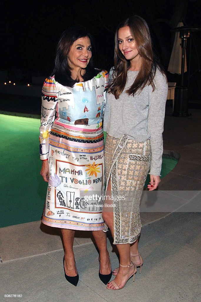 Irene Albright and Marina Albright attend the Albright Fashion Library LA Launch on February 3, 2016 in Beverly Hills, California.