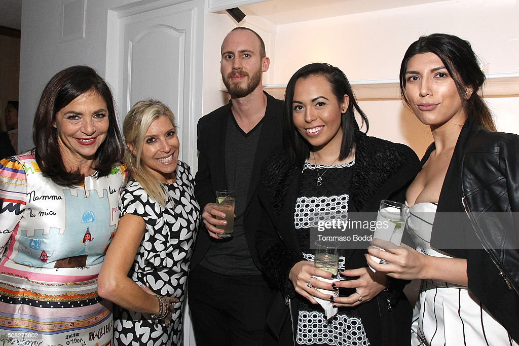 Irene Albright, Jason Hazzard and and guests attend the Albright Fashion Library LA Launch on February 3, 2016 in Beverly Hills, California.
