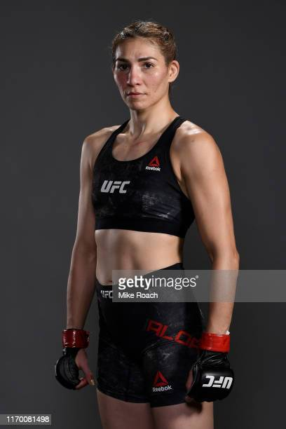 Irene Aldana of Mexico poses for a portrait backstage during the UFC Fight Night on September 21 2019 in Mexico City Mexico