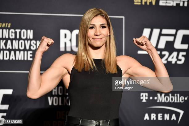 Irene Aldana of Mexico poses for the media during the UFC 245 Ultimate Media Day at the Red Rock Casino Resort on December 12 2019 in Las Vegas Nevada
