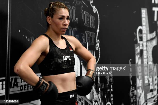 Irene Aldana of Mexico warms up backstage during the UFC 245 event at TMobile Arena on December 14 2019 in Las Vegas Nevada