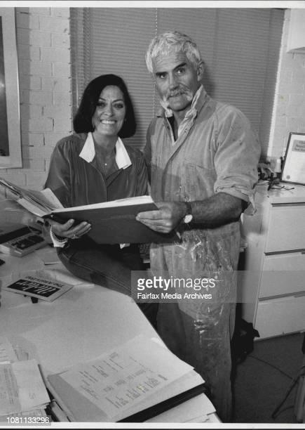 Irene and James Cobb at Chroma Acrylics Mt Kuringai May 24 1985