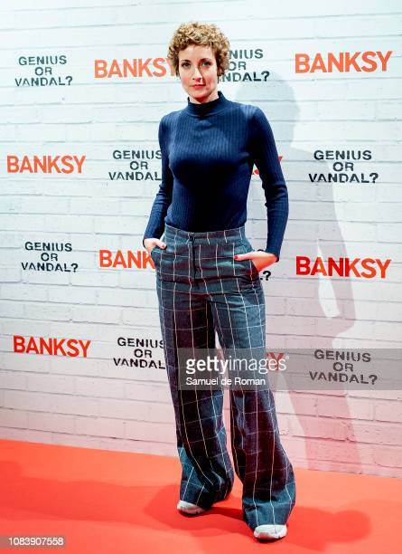 Irene Anula attends 'BANKSY. Genius or Vandal?' Madrid Photocall on December 17, 2018 in Madrid, Spain.