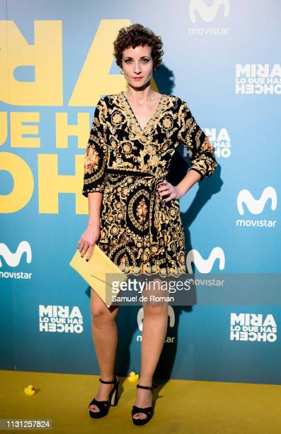 Irene Anula attends Mira Lo Que Has Hecho Second Season Premiere In Madrid on February 21 2019 in Madrid Spain